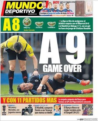 Portada Mundo Deportivo: A 9 Game Over