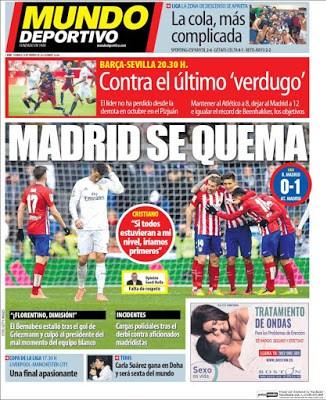 Portada Mundo Deportivo: Madrid se quema