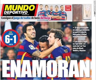 Portada Mundo Deportivo: La MSN enamor
