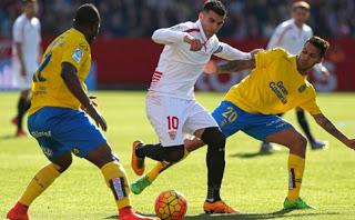 Sevilla 2-Las Palmas 0. Jornada 24 Liga Española