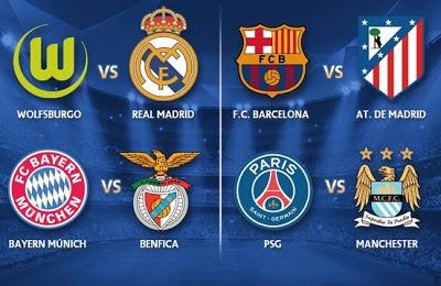 Sorteo cuartos Champions League 2015-2016. Calendario