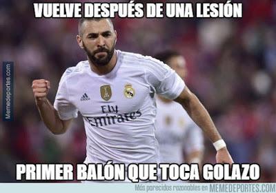 Los memes del Real Madrid-Sevilla más divertidos. Liga BBVA benzema gol