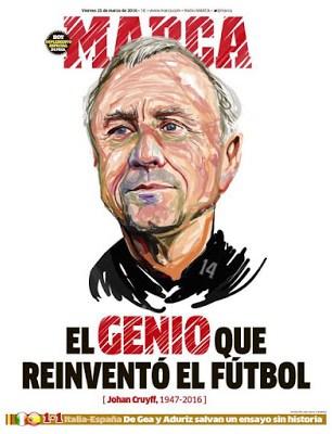 Portada Marca: Muere Johan Cruyff