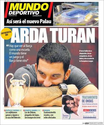 Portada Mundo Deportivo: Arda Turan