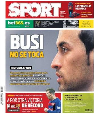 Portada Sport: Busi no se toca
