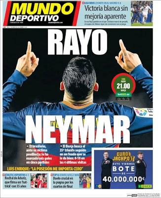 Portada Mundo Deportivo: Rayo Neymar
