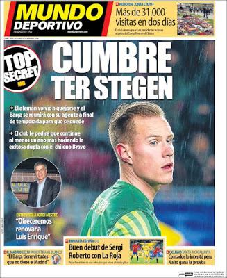 Portada Mundo Deportivo: Cumbre Ter Stegen
