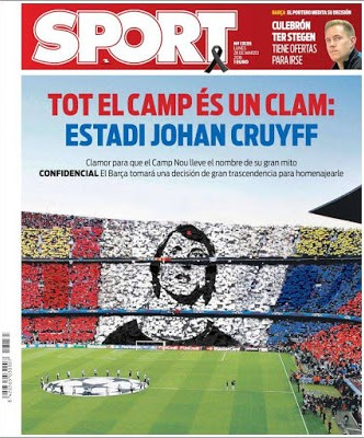 Portada Sport: Estadi Johan Cruyff