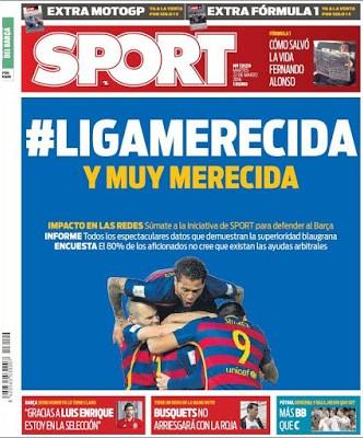 Portada Sport: Liga Merecida