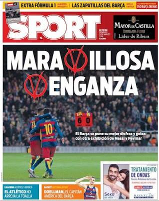 Portada Sport: Maravillosa Venganza