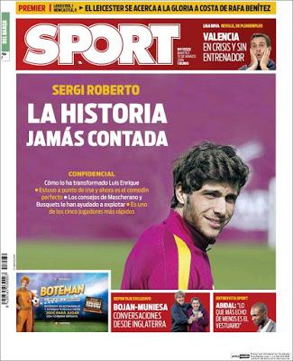 Portada Sport: Sergi Roberto