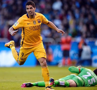 Deportivo 0-Barcelona 8. Jornada 34 Liga  Española suarez gol
