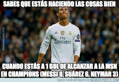 Los memes del Atlético Madrid-Barcelona champions cristiano ronaldo