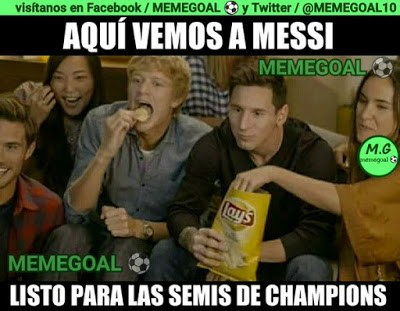 Los memes del M. City-Real Madrid más divertidos: Semis Champions messi