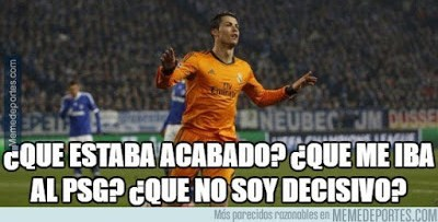 Los memes del Real Madrid-Wolfsburgo cristiano ronaldo