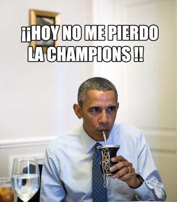 obamba no se pierde la champions barcelona atletico madrid