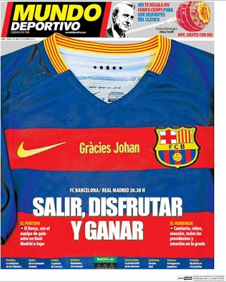Portada AS: Barça-Madrid Gracies Johan
