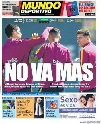 Portada Mundo Deportivo: No va más