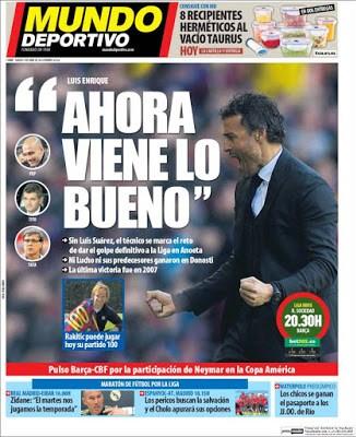 Portada Mundo Deportivo: Ahora viene lo bueno