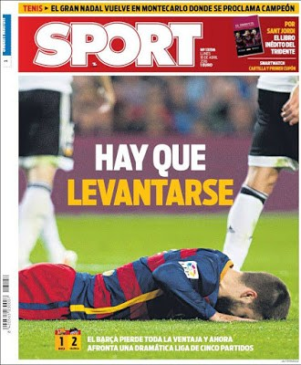 Portada Sport: Hay que levantarse