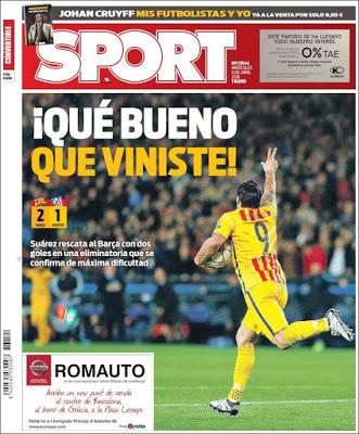 Portada Sport: Que bueno que viniste
