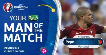 Mejor jugador de la final: Pepe (Portugal)