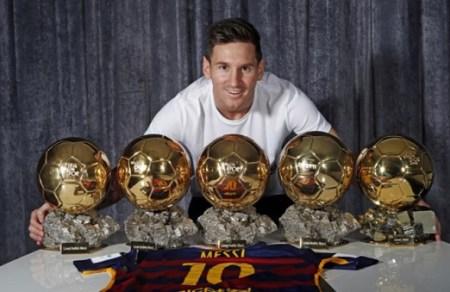 Leo Messi 5 Balones de Oro