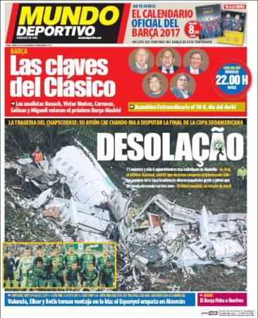 portada-mundo-deportivo-chapecoense-accidente-avion