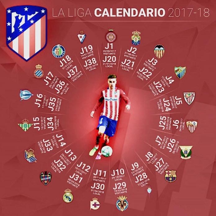 Calendario Liga Española Atlético Madrid 2017-2018
