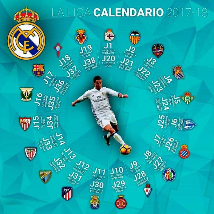 Calendario Real Madrid 2017-2018 Liga Española
