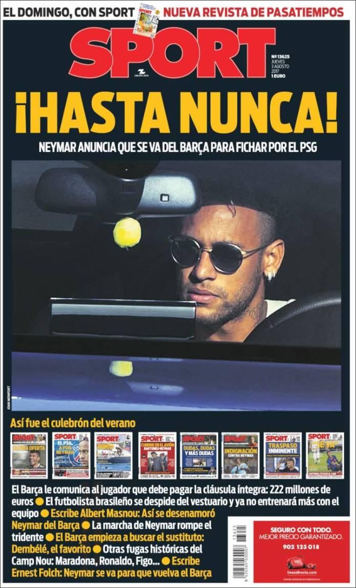 Neymar Ficha por el PSG portada sport