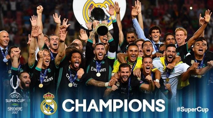 Real Madrid Campeón Supercopa Europa 2017