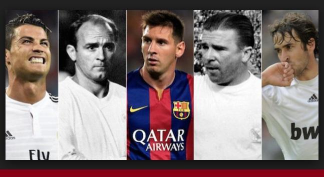 Goleadores Clásicos Real Madrid Barcelona