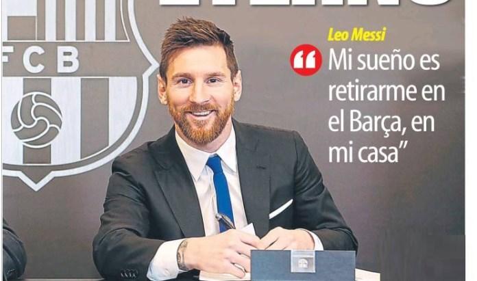 Leo Messi renueva con el Barcelona