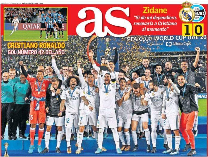 Real Madrid gana su sexto Mundial de Clubes