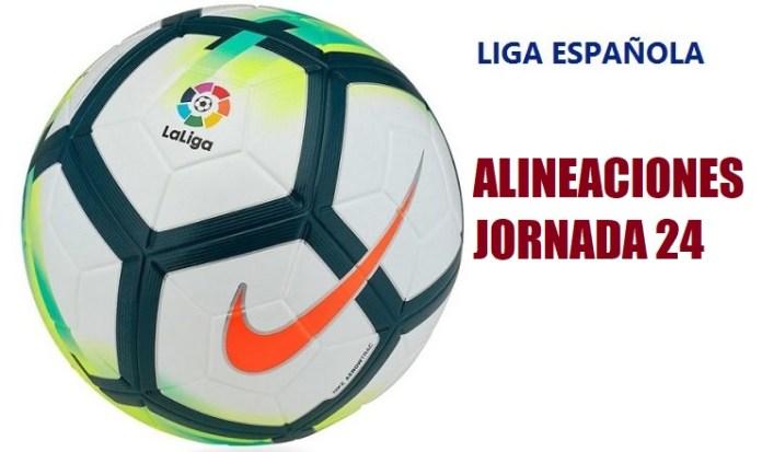 Alineaciones Jornada 24 Liga Santander