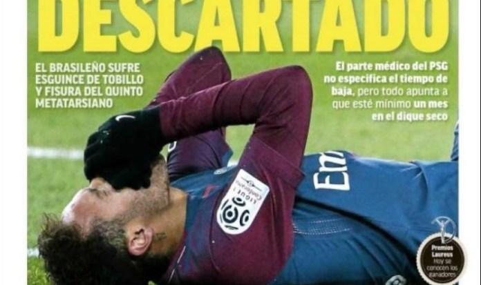Neymar casi descartado