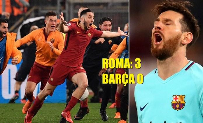 La Roma elimina al Barça