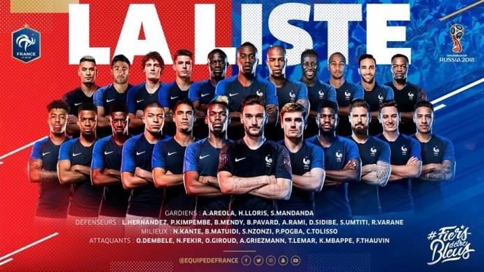 Convocados Francia Mundial 2018