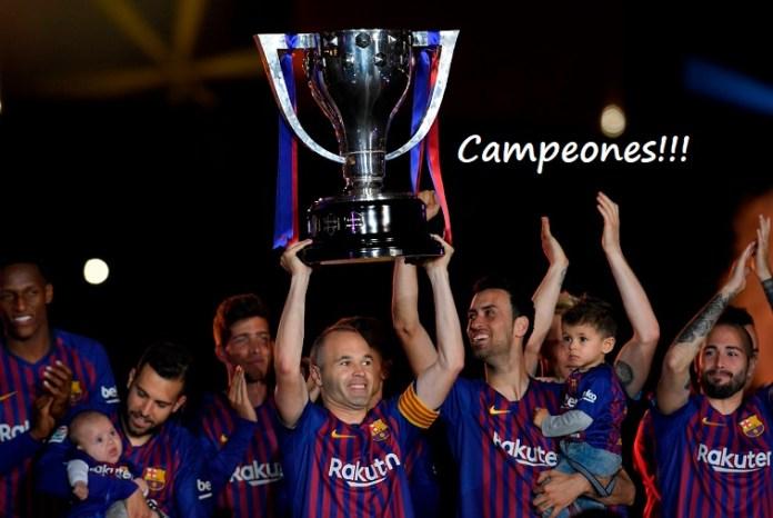 Posiciones definitivas Liga Española 2017-2018