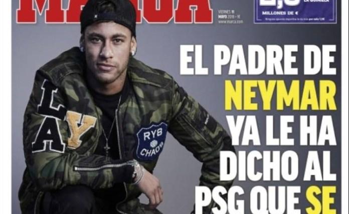 Neymar prepara la operación salida del PSG