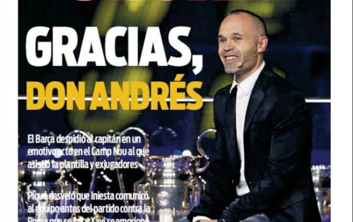 A los pies de Andrés Iniesta