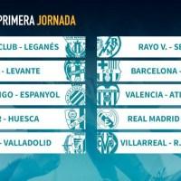 Jornada 1 Liga Española 2018 | Partidos y horarios