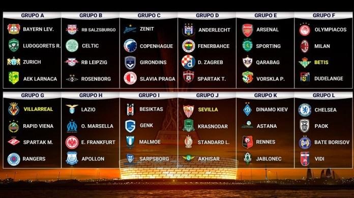 Calendario Europa League 2019-2020