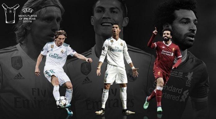 nominados al UEFA Best Player 2018