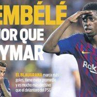 Dembélé mejor que Neymar, a CR7 le pueden caer tres partidos | Portadas