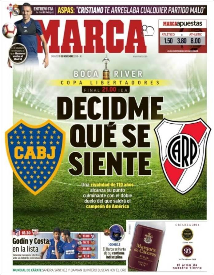 Portada Marca Boca-River Final Libertadores