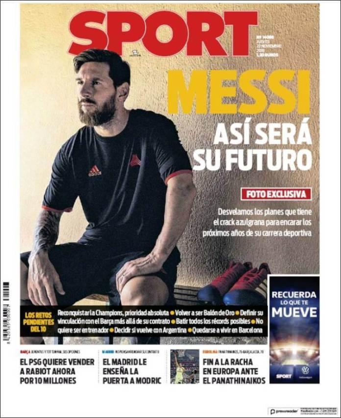 Portada Sport 22/11/2018