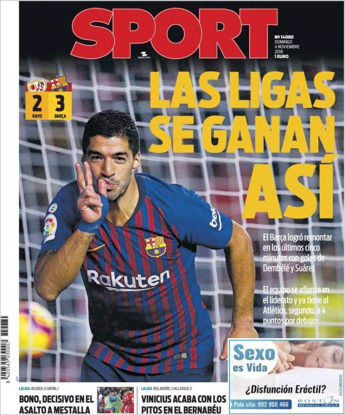 Portada Sport  4/11/2018