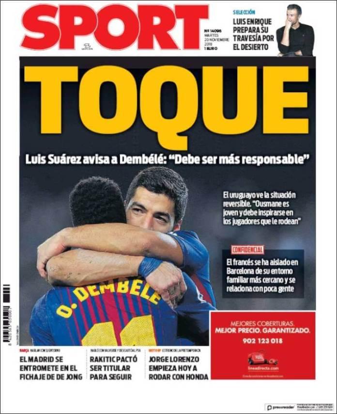 Portada Sport 20/11/2018